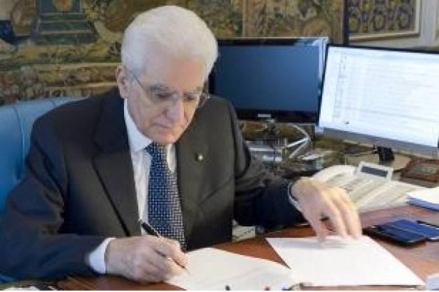 Mattarella scrive a Biden