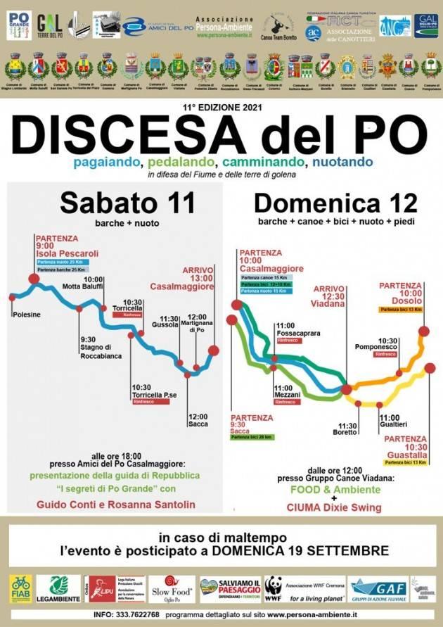 Discesa del Po 2021 - 11° Edizione Sabato 11 e Domenica 12 settembre