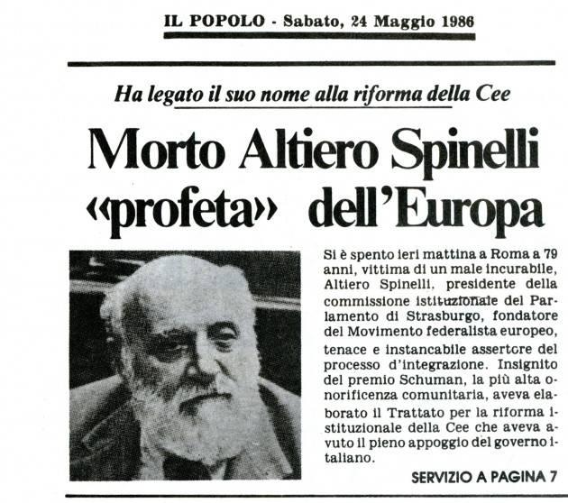 Per una nuova Europa Il manifesto di Altiero Spinelli scritto nel giugno 1941