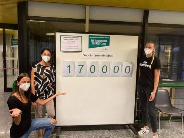 Stefania Bonaldi Soddisfatta Il Centro Vaccinale ha raggiunto le 170mila vaccinazioni