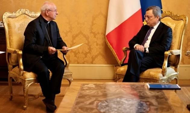 Draghi incontra Monsignor Paglia