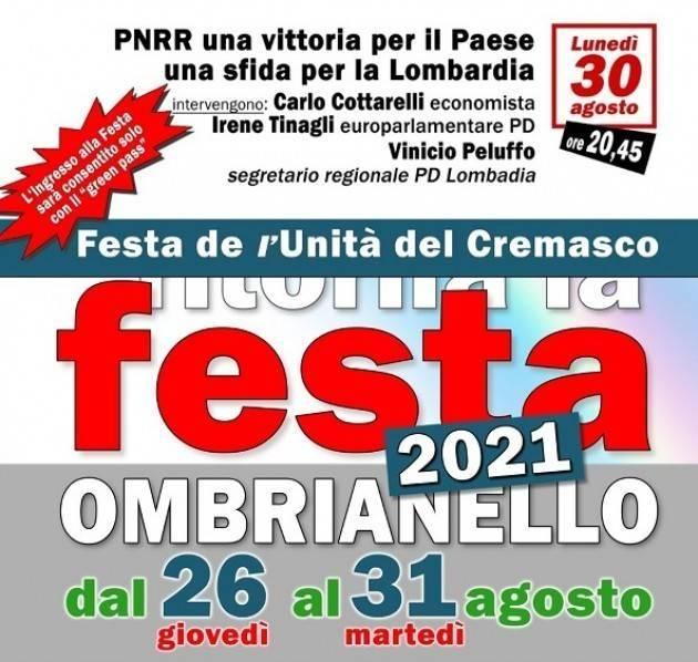 Crema Festa Unità 2021 Ombrianello Incontro con Carlo Cottarelli (Video)