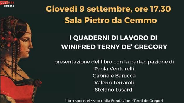 | QUADERNI DI LAVORO DI WINIFRED TERNI DE' GREGORY