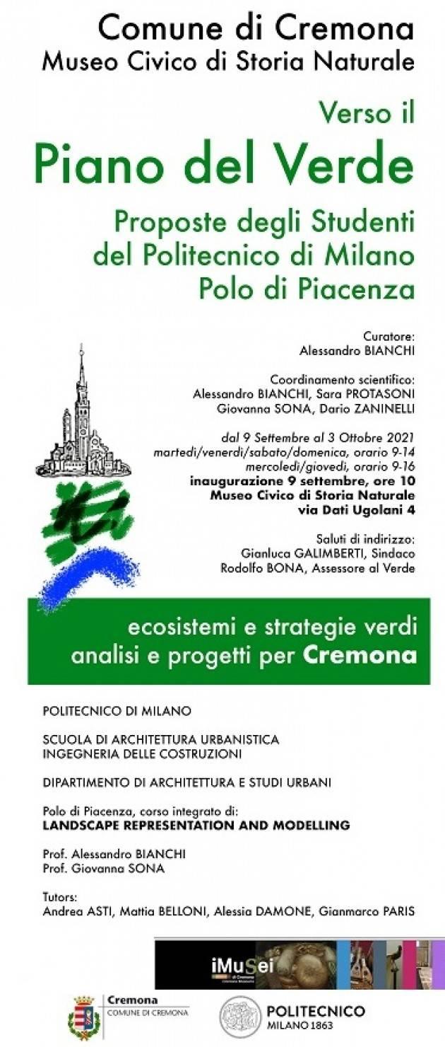 Cremona Inaugurazione della mostra Verso il Piano del Verde
