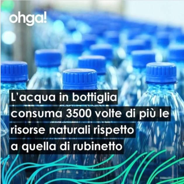 OHGA Acqua di rubinetto vs acqua in bottiglia.