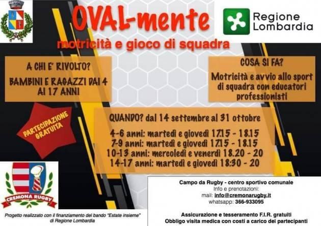 Domenica al campo sportivo del Bosco ex Parmigiano Open Day del Cremona Rugby