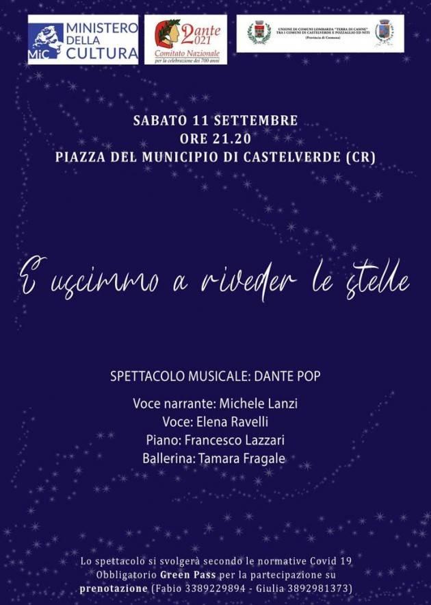 'E uscimmo a riveder le stelle' serata musicale a Castelverde