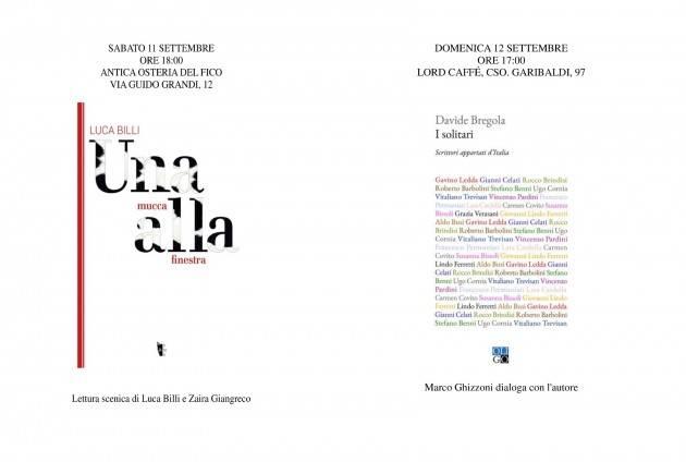 Gli appuntamenti della Libreria del Convegno del 11 e 12 settembre