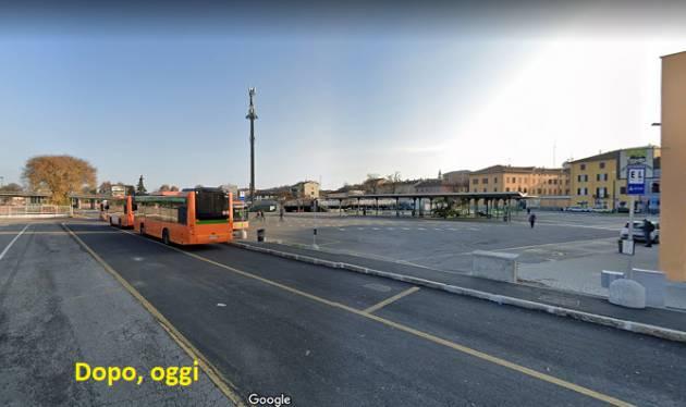 Cr Alberi tagliati Stazione bus a fianco del parcheggio e molti disagi
