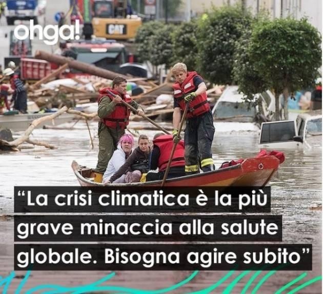 Ohga La crisi climatica è la più grave minaccia alla salute globale