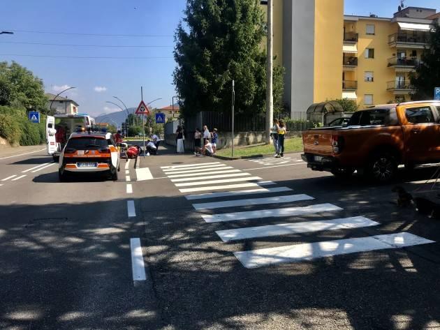 SCONTRO AUTO-MOTO: FERITO 20ENNE
