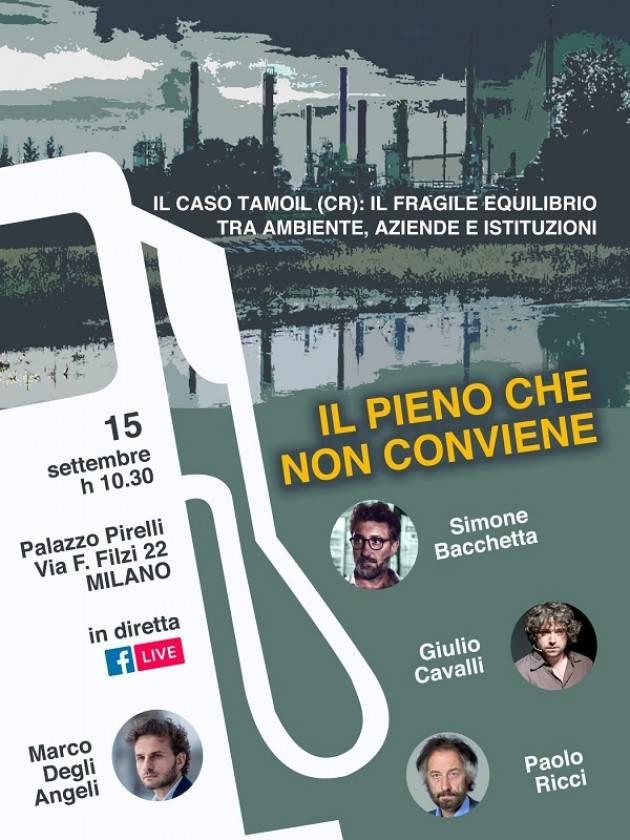 Caso Tamoil al Pirellone. Evento organizzato da Marco Degli Angeli (M5s Lomb)