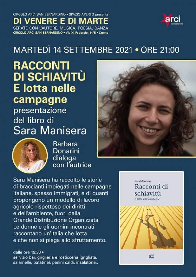 Crema Libro Sara Manisera 'Racconti di schiavitù e lotta nelle campagne'