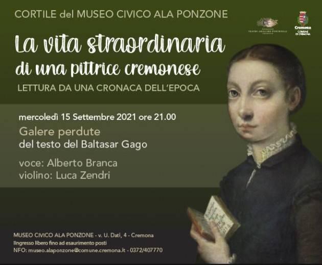 Cremona Ultimo appuntamento della rassegna dedicata a Sofonisba Anguissola