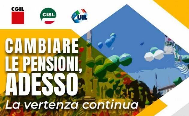 Sbarra (Cisl) La vertenza pensioni continua
