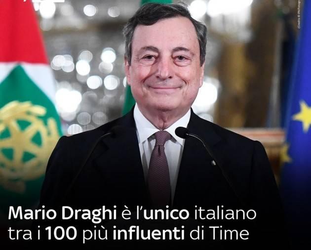 Mario Draghi è per la terza volta tra i 100 di Time.