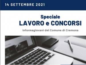 SPECIALE LAVORO E CONCORSI Cremona,Crema,Soresina Casal.ggiore – 14 settembre  2021