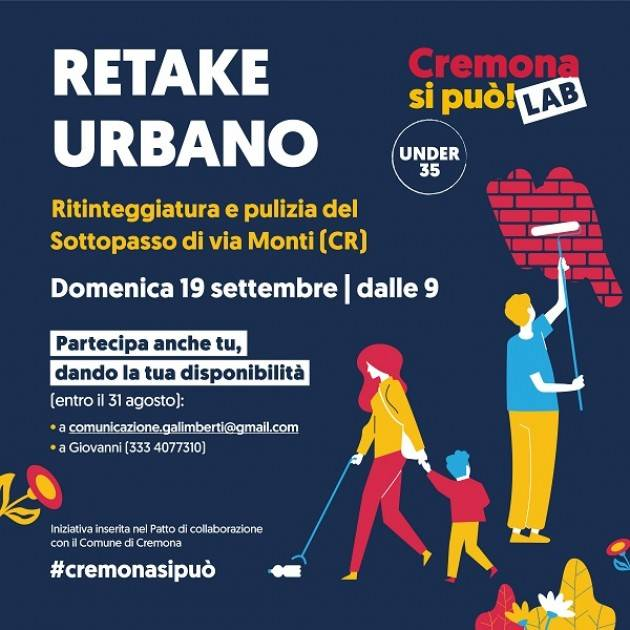 Cremona si può, domenica retake dei giovani in via Monti