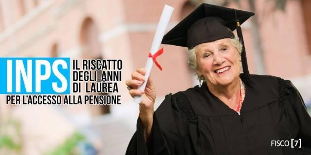 INPS Riscatto Laurea  -  Nuovo servizio on line
