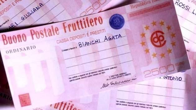 CODACONS CREMONA: BUONI FRUTTIFERI POSTALI, DALL'ABF QUASI 100MILA EURO