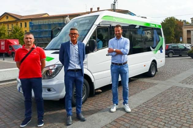 Crema  provata in nuova linea urbana di trasporto Miobus  Ombriano-Crema