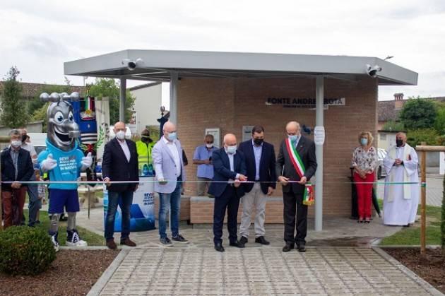 Isola Dovarese, Padania Acque :inaugurata casa acqua 'Fonte Andrea Rota'