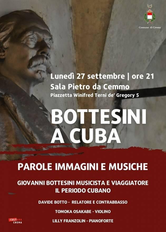 Crema Bottesini a Cuba, evento il 27 settembre