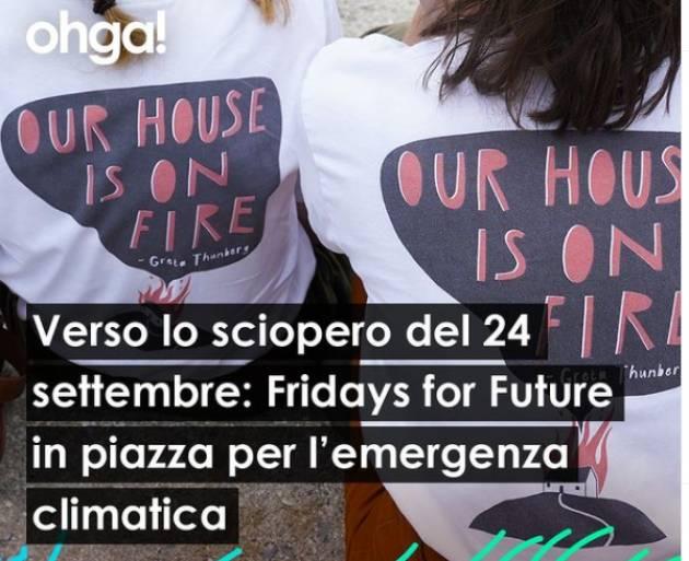 Ohga FFF- Fridays For Future in p.zza il 24 settembre in Italia