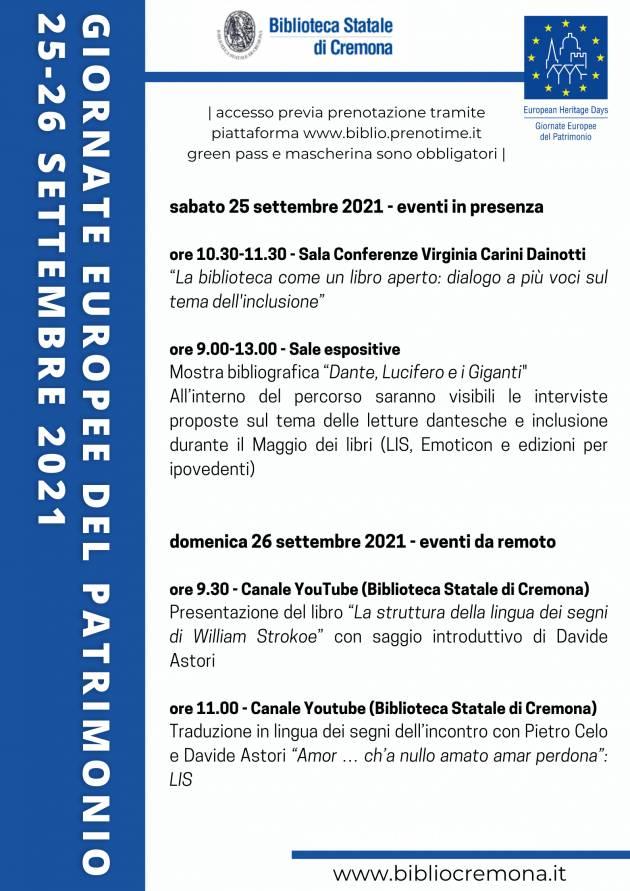 La Biblioteca Statale di Cremona Tutti inclusi