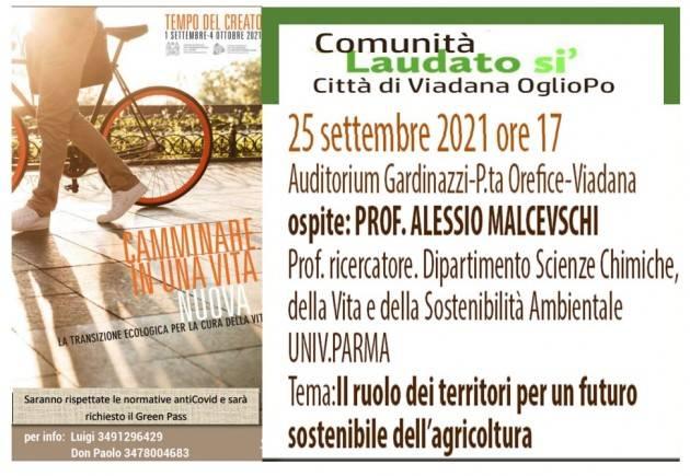 Viadana  evento col prof. Malcevschi  il 25 settembre ore 17