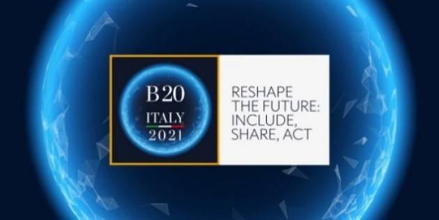 Consegnate a Draghi le proposte del B20