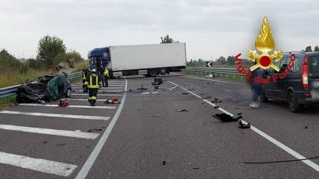 Tavazzano (Lodi) Stamane , domenica 10 ottobre, un morto da incidente stradale