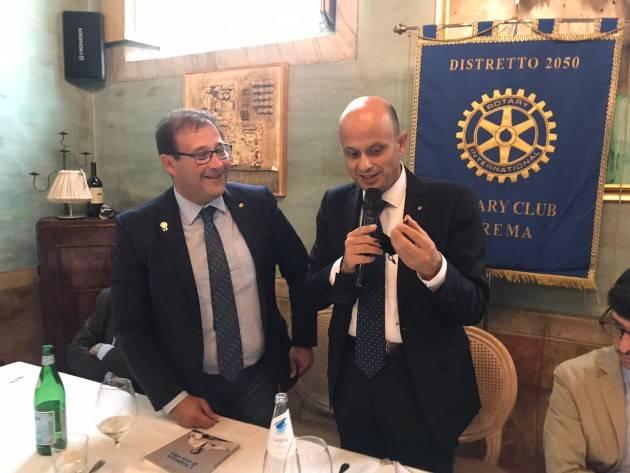 L'Avv. Luigi Maione al Rotary Club Crema |Agazzi Antonio