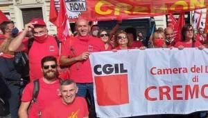 La telefonata con Pedretti (Cgil CR) dalla manifestazione antifascista di Roma