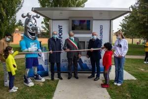 Pozzaglio , Padania Acque : inaugurata la casa dell'acqua Fonte San Lorenzo