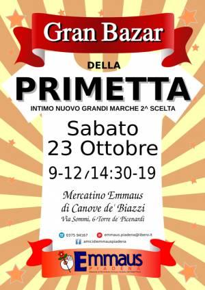 Emmaus Canove de Biazzi SABATO 23 OTTOBRE RITORNA LA PRIMETTA!