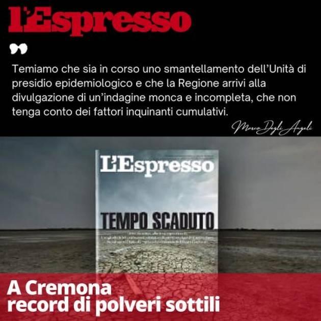 A Cremona Record di polveri sottili HO I BRIVIDI | Marco Degli Angeli (M5S)