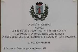 Inaugurazione Targa per vittime Covid-19 di Soresina