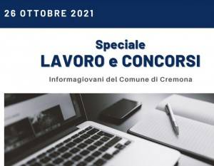 SPECIALE LAVORO CONCORSI Cremona,Crema,Soresina Casal.ggiore –26 ottobre 2021