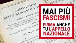 L'appello 'Mai più fascismi'